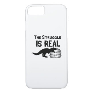 Capa iPhone 8/ 7 o dinossauro T Rex o Struggl é Hamburger real