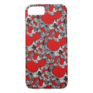 Capa iPhone 8/ 7 O Doodle desavergonhado do SBC telhou o vermelho