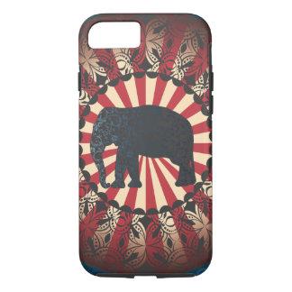 Capa iPhone 8/ 7 O elefante do circo do vintage de StellaRoot livra