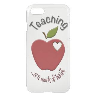 Capa iPhone 8/7 O ensino é trabalho do iPhone 7 do coração