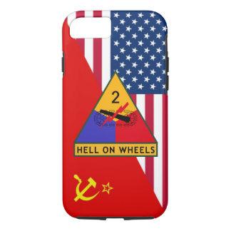 """Capa iPhone 8/ 7 ò """"Esquema da pintura da guerra fria"""" de divisão"""