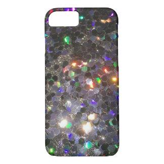 Capa iPhone 8/ 7 O exemplo do telemóvel do holograma do preto do