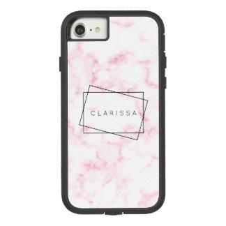 Capa iPhone 8/ 7 o falso moderno elegante do rosa pastel e do