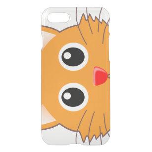 Capa iPhone 8/7 O gato alaranjado com o nariz vermelho