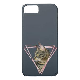 Capa iPhone 8/ 7 O gato de gato malhado com falso cora quadro