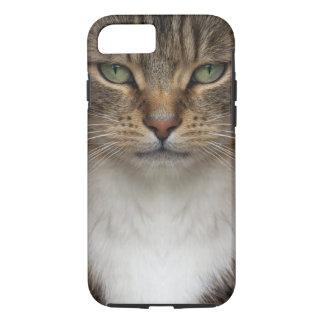 Capa iPhone 8/ 7 O gato de gato malhado enfrenta o caso resistente