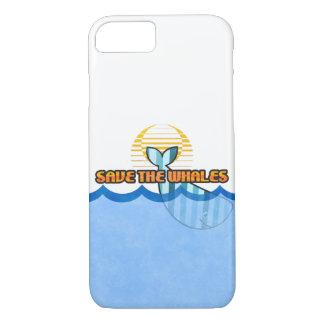 "Capa iPhone 8/ 7 o iPhone 8/7, mal lá ""salvar exemplo das baleias"""