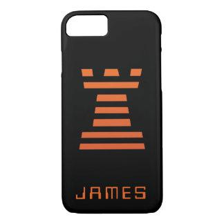 Capa iPhone 8/ 7 O iPhone de ChessME adiciona a laranja preta