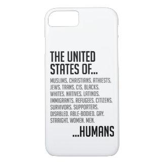 Capa iPhone 8/ 7 O iPhone & Samsung dos Estados Unidos encaixotam