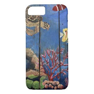 Capa iPhone 8/ 7 O iPhone tropical 8/7Barely da água da tartaruga