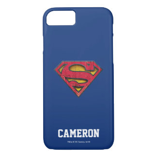 Capa iPhone 8/ 7 O logotipo afligido | | do S-Protetor do superman