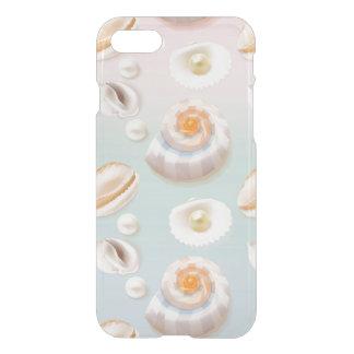 Capa iPhone 8/7 O mar Shell do SeaShell da luz Aloha peroliza o