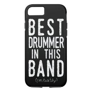 Capa iPhone 8/ 7 O melhor baterista (provavelmente) (branco)