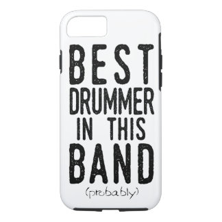 Capa iPhone 8/ 7 O melhor baterista (provavelmente) (preto)