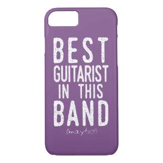 Capa iPhone 8/ 7 O melhor guitarrista (talvez) (preto)
