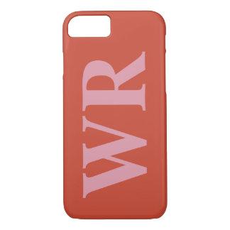 Capa iPhone 8/ 7 O monograma grande rotula o estilo corajoso