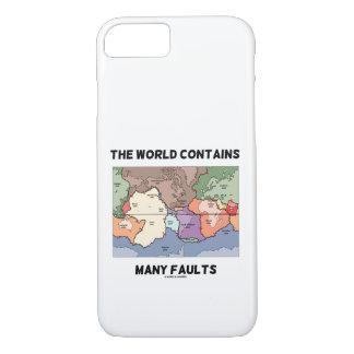 Capa iPhone 8/ 7 O mundo contem o humor do terremoto de muitas
