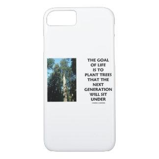 Capa iPhone 8/ 7 O objetivo da vida é plantar árvores que a próxima