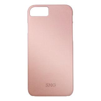 Capa iPhone 8/ 7 O ouro cor-de-rosa coloriu iniciais do costume de