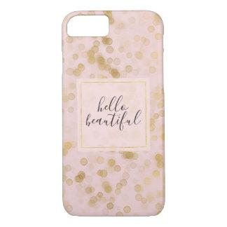 Capa iPhone 8/ 7 O ouro cora confetes cor-de-rosa