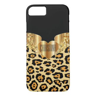 Capa iPhone 8/ 7 O ouro do leopardo voa o exemplo feito sob