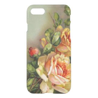 Capa iPhone 8/7 O ouro do vintage e cora rosas