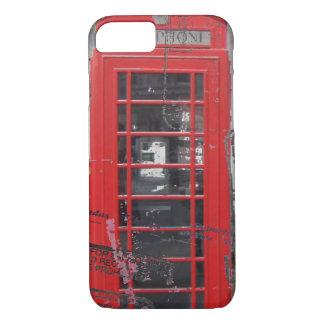 Capa iPhone 8/ 7 o passaporte carimba a cabine de telefone vermelha