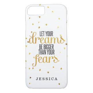 Capa iPhone 8/ 7 O preto e o ouro deixaram suas citações inspiradas
