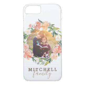 Capa iPhone 8/ 7 O primavera cora foto de família floral da