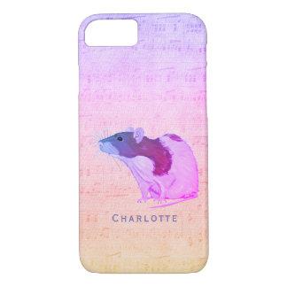 Capa iPhone 8/ 7 O rato cor-de-rosa do animal de estimação adiciona
