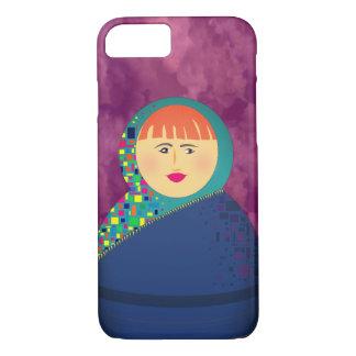 Capa iPhone 8/ 7 O roxo da boneca do russo de Matryoshka nubla-se o