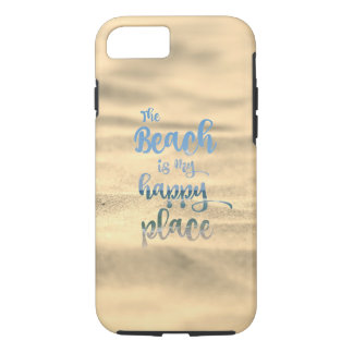 Capa iPhone 8/ 7 O Sandy Beach é meu lugar feliz