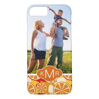 Capa iPhone 8/ 7 O teste padrão alaranjado brilhante   do citrino