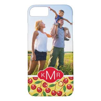 Capa iPhone 8/ 7 O teste padrão bonito   da cereja adiciona sua