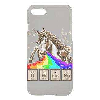 Capa iPhone 8/7 O unicórnio da química pukes o arco-íris
