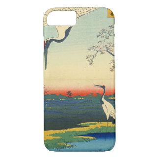 Capa iPhone 8/ 7 O vermelho coroado Cranes 1857