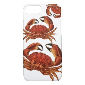 Capa iPhone 8/ 7 O vermelho do vintage Crabs Pinchers crustáceos do