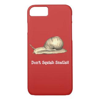 Capa iPhone 8/ 7 O vermelho não squish o design dos caracóis