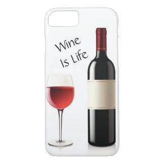 Capa iPhone 8/ 7 O vinho é vida