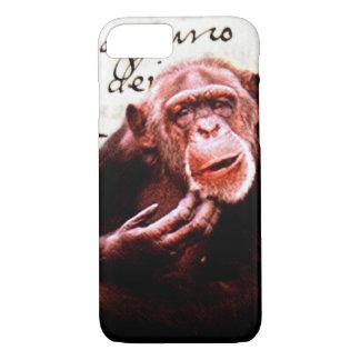 Capa iPhone 8/ 7 o vintage scripts o chimpanzé engraçado