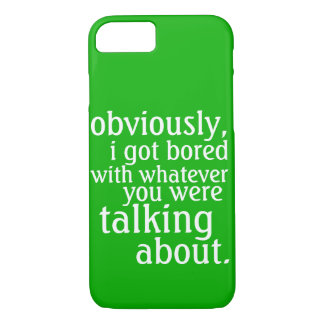 Capa iPhone 8/ 7 Obviamente eu obtive furado