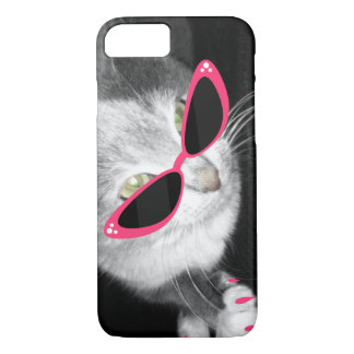 Capa iPhone 8/ 7 Óculos de sol do gato eu telefono ao caso 5