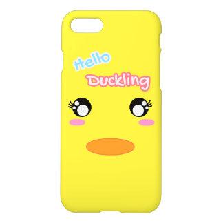 Capa iPhone 8/7 Olá! da cara amarela do pato do patinho caixa