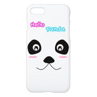 Capa iPhone 8/7 Olá! da cara branca da panda da panda caixa bonito