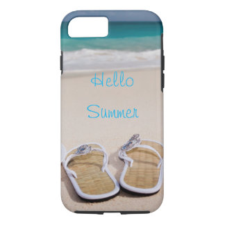 Capa iPhone 8/ 7 Olá! praia de //do verão