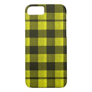 Capa iPhone 8/ 7 Olhar Checkered de serapilheira do teste padrão do