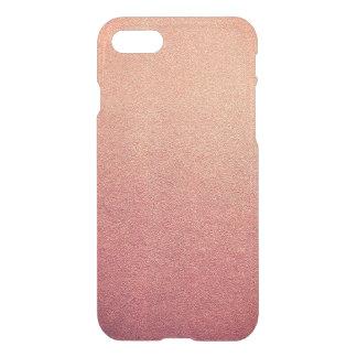 Capa iPhone 8/7 Olhar cor-de-rosa da areia do brilho de Ombre do