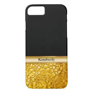 Capa iPhone 8/ 7 Olhar luxuoso elegante do ouro