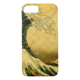 Capa iPhone 8/ 7 Onda de Hokusai e caso do iphone 7 dos pontos do