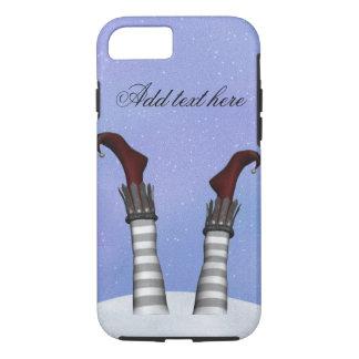 Capa iPhone 8/ 7 Oops caso do iPone da neve dos pés do duende
